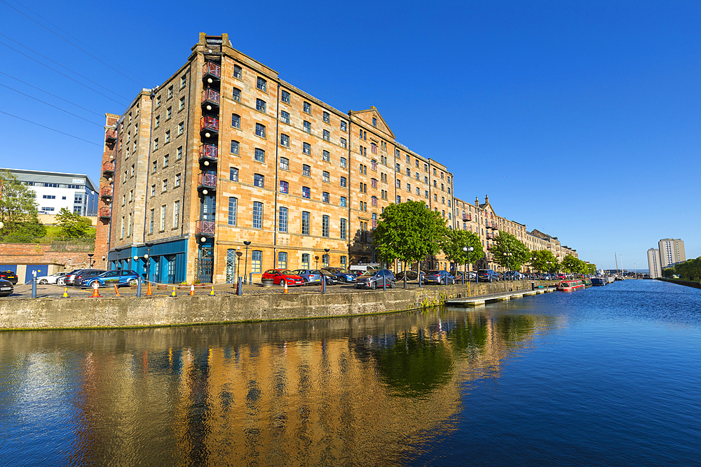Speirs Wharf, Forth and Clyde Canal, Glasgow, Scotland, United Kingdom, Europe - 1237-279