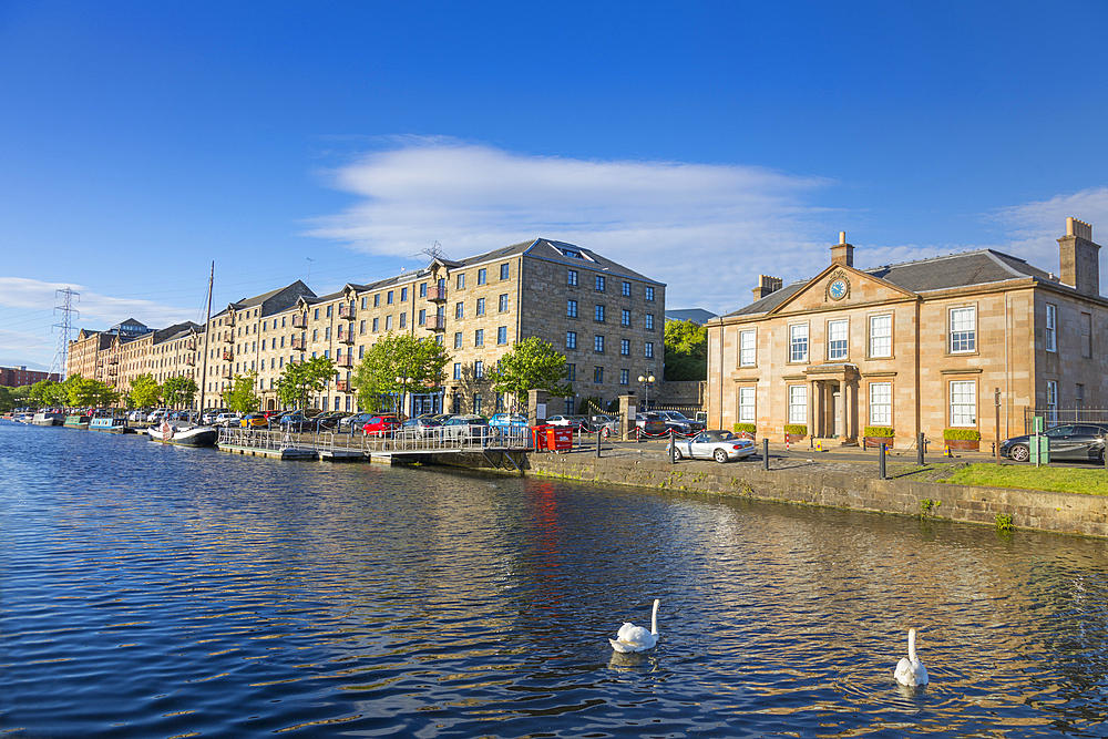 Speirs Wharf, Forth and Clyde Canal, Glasgow, Scotland, United Kingdom, Europe - 1237-280