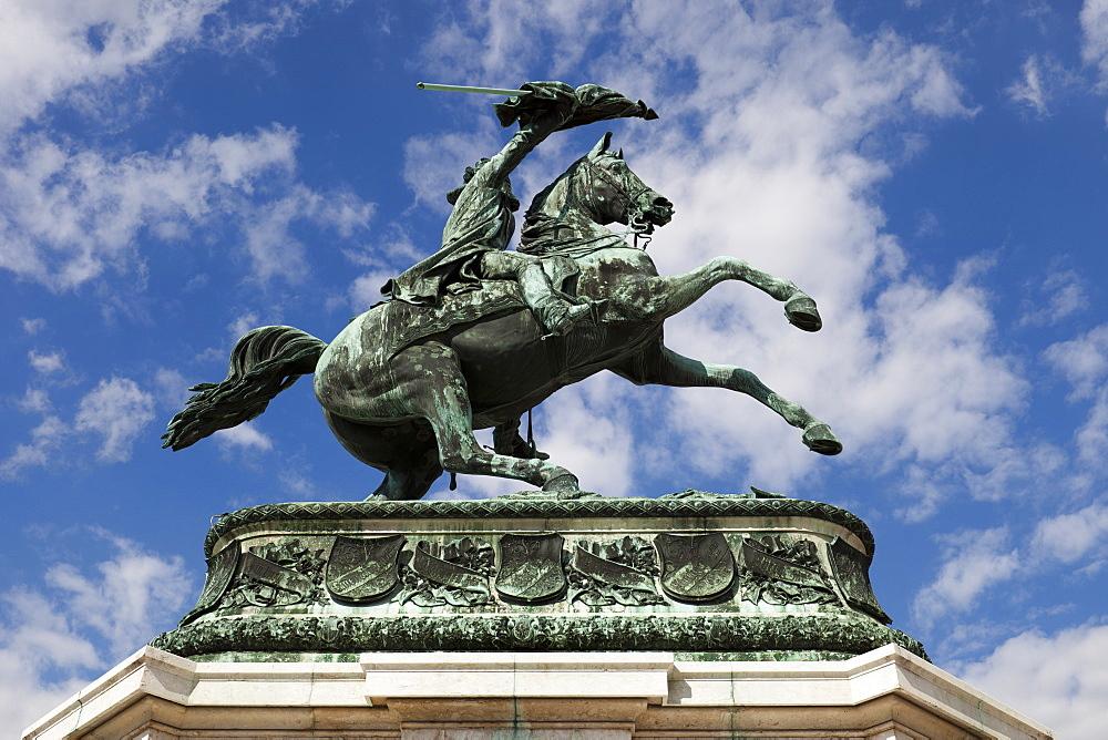 Equestrian statue of Archduke Charles of Austria, Duke of Teschen, Vienna, Austria, Europe.