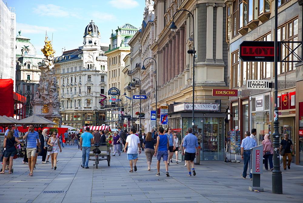 Pedestrian street, Graben Street, Vienna, Austria, Europe.