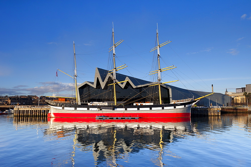 The Riverside Museum and docked ship The Glenlee, Glasgow, Scotland, United Kingdom, Europe