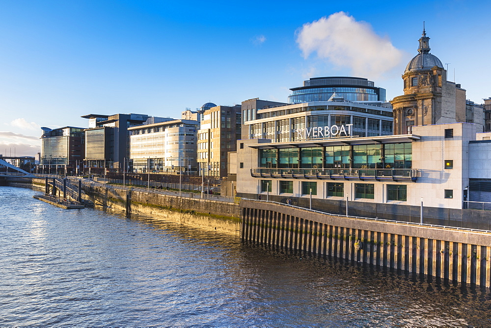 Riverboat casino and International Financial Services District, (IFSD), Broomielaw, River Clyde, Glasgow, Scotland, United Kingdom, Europe