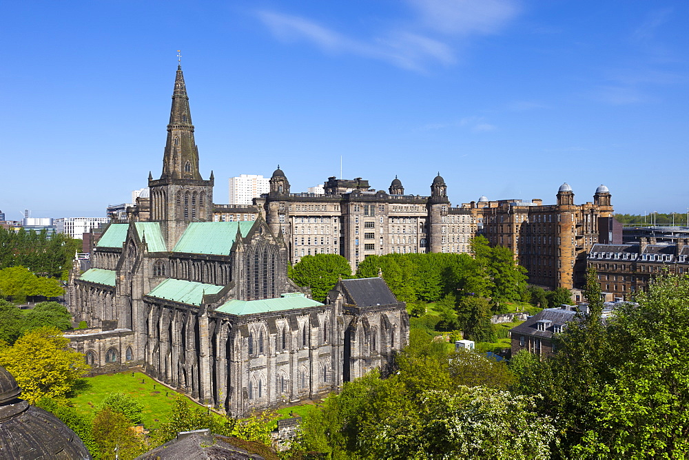 Glasgow Cathedral and Royal Infirmary, Glasgow, Scotland, United Kingdom, Europe