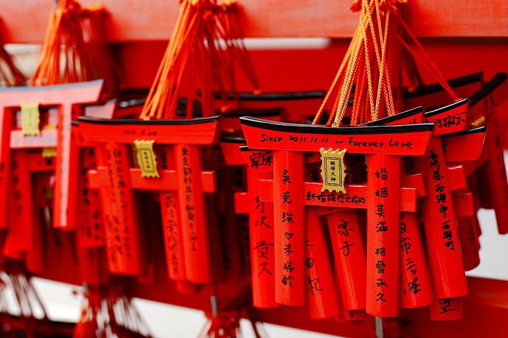Small torii votive offerings, Fushimi Inari shrine, Kyoto, Japan, Asia - 1238-118