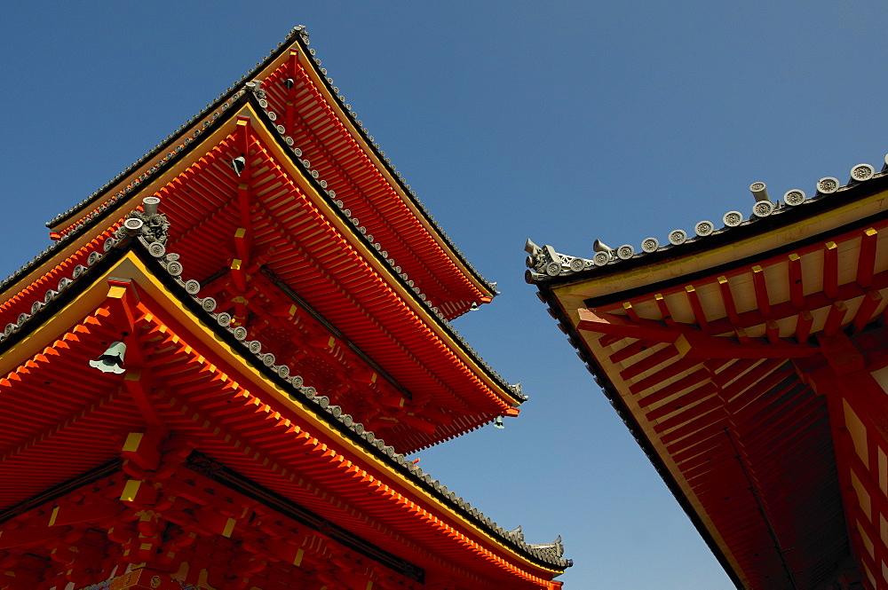 Kiyomizudera temple's red pagoda, Kyoto, Japan, Asia - 1238-133