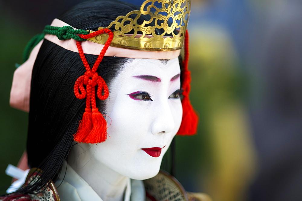 Female Samurai Tomoe Gozen, Jidai festival, Kyoto, Japan, Asia - 1238-148