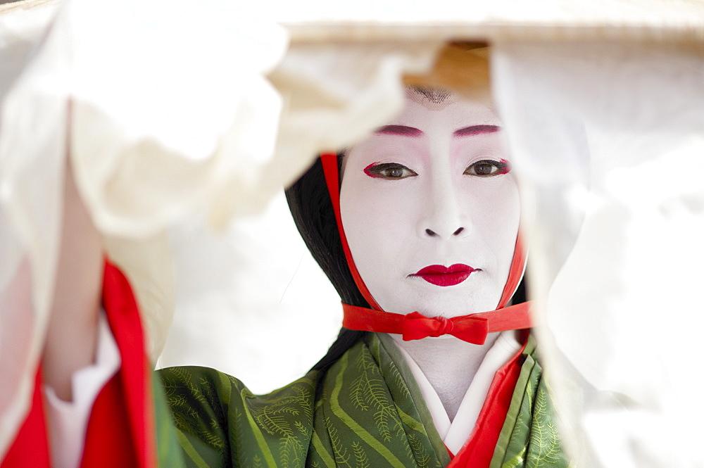 Twelfth century character Tokiwa Gozen, Jidai festival, Kyoto, Japan, Asia - 1238-151