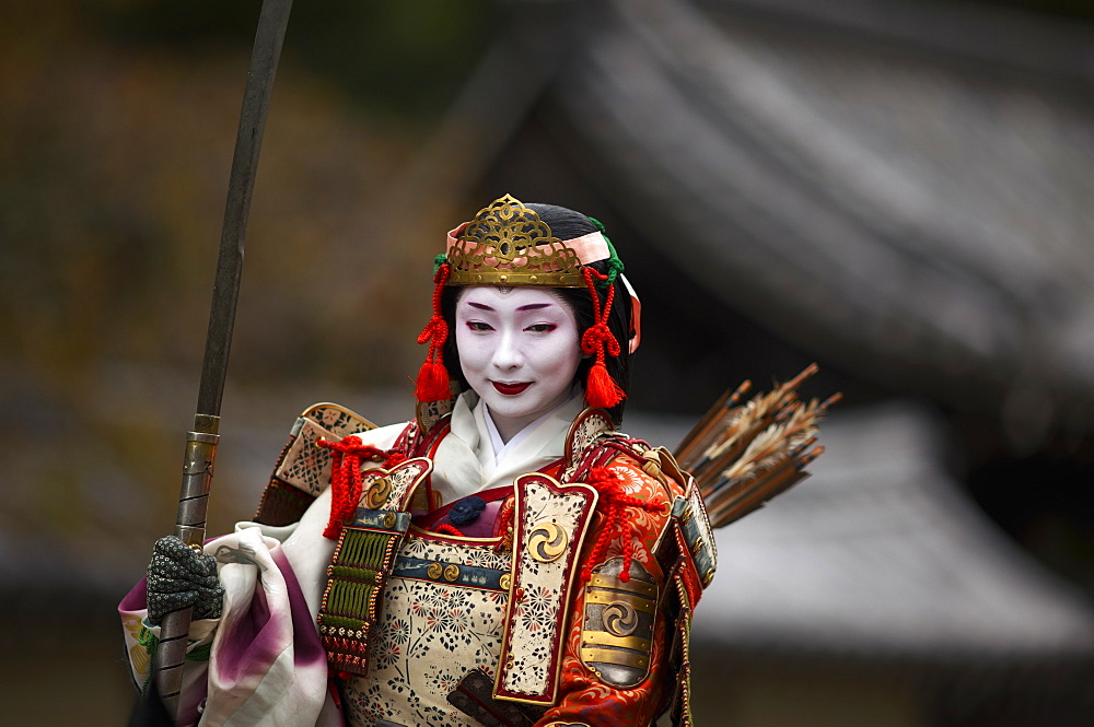 Female warrior during the Jidai festival, Kyoto, Japan, Asia - 1238-2