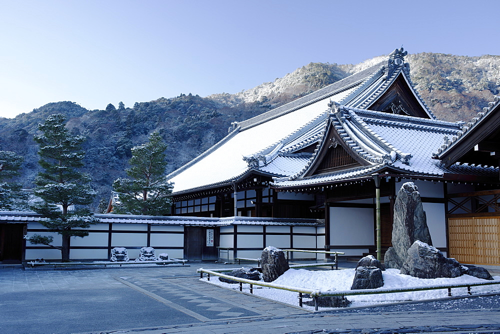 Early winter morning in Tenryu-ji Temple, UNESCO World Heritage Site, Kyoto, Japan, Asia - 1238-36