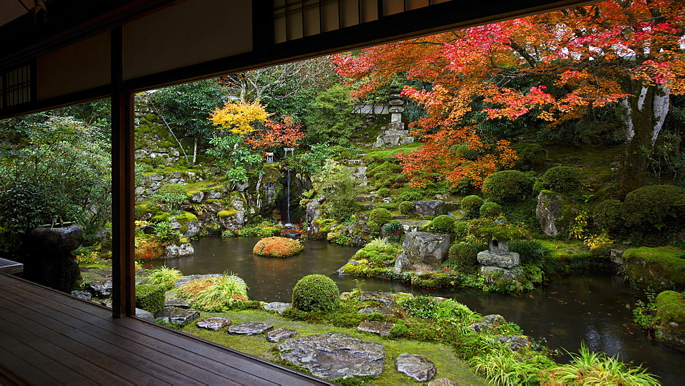 Japanese garden in autumn, Ohara valley, Kyoto, Japan, Asia - 1238-44