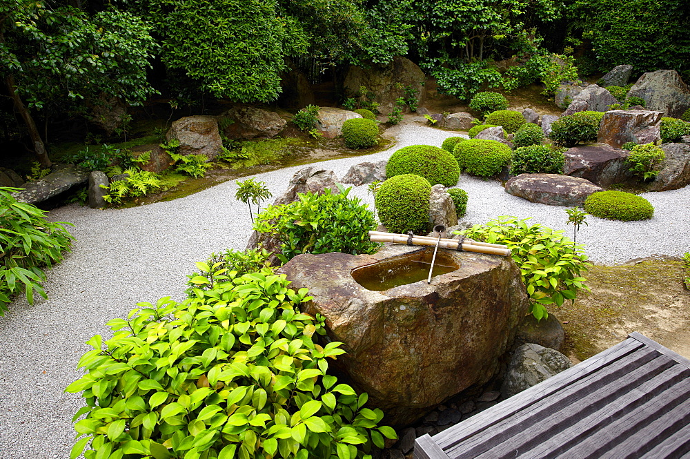 Taizo-in temple Zen garden, Kyoto, Japan, Asia - 1238-53