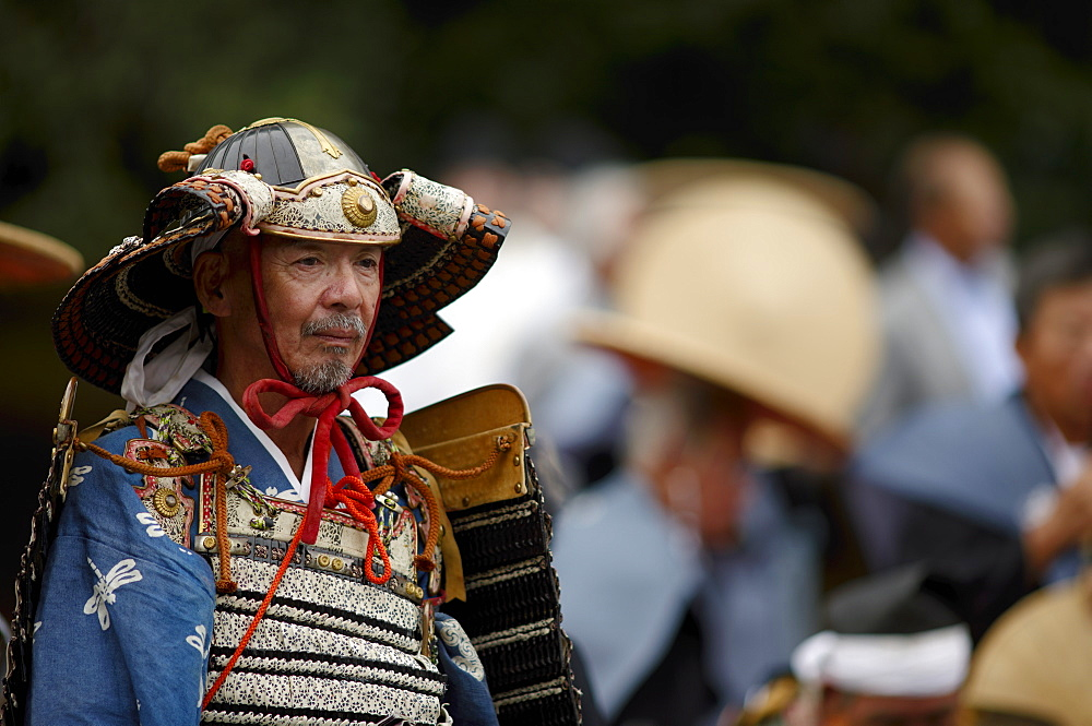 Warrior in full gear during the Jidai Festival, Kyoto, Japan, Asia - 1238-8