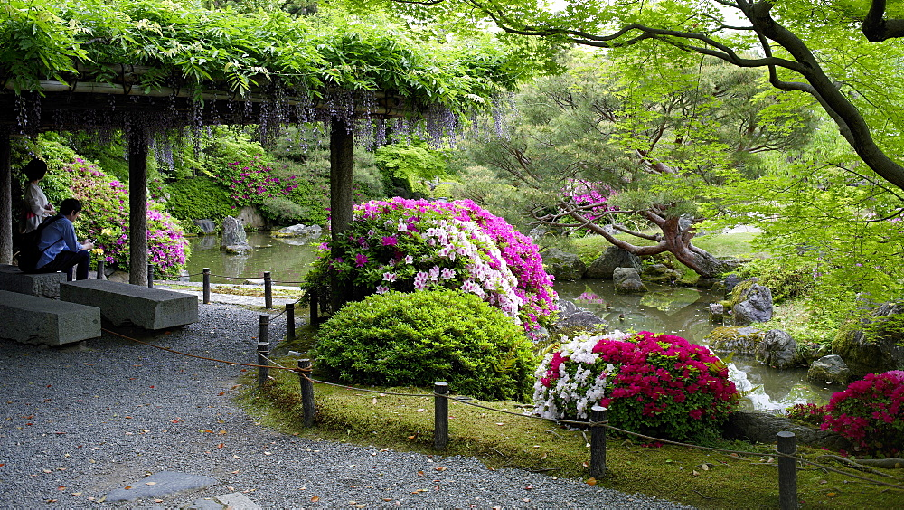 Jonan-gu shrine gardens, Kyoto, Japan, Asia - 1238-89