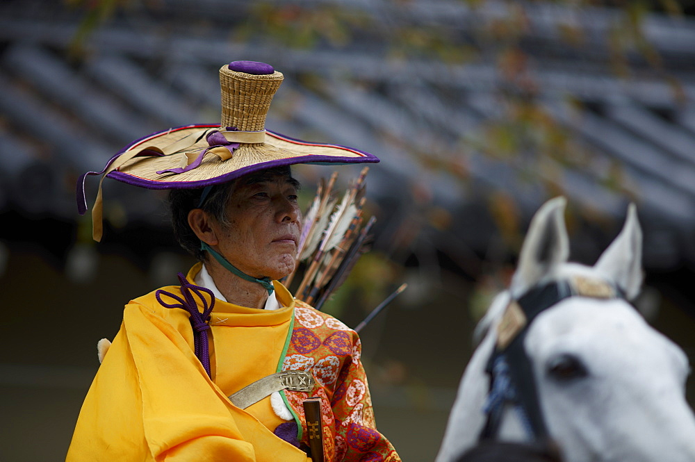 Mounted archer during the Jidai Festival, Kyoto, Japan, Asia - 1238-9