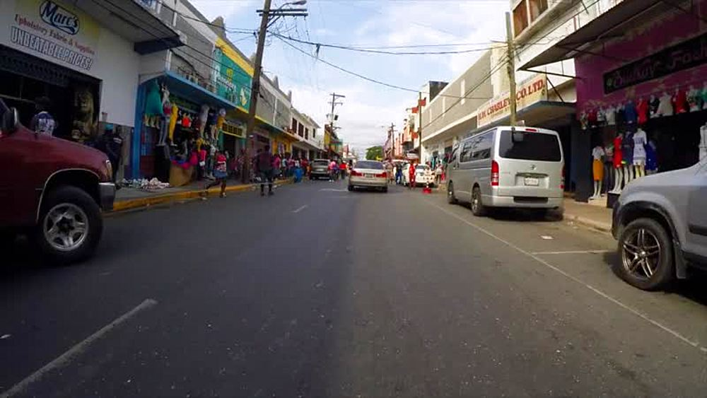 Drive through Kingston, Kingston and St. Andrew, Jamaica, West Indies, Caribbean, Central America - 1239-10