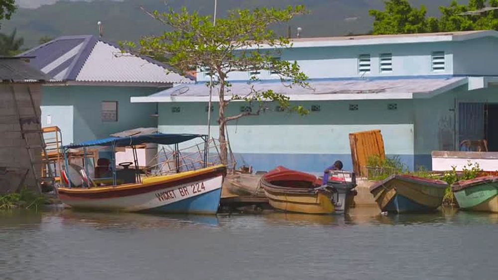 Boats on Black River, St. Elizabeth, Jamaica, West Indies, Caribbean, Central America - 1239-4