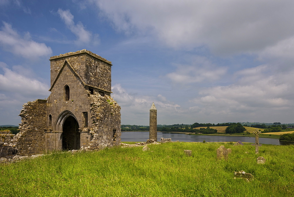 Devenish Island, Lower Lough Erne, County Fermanagh, Ulster, Northern Ireland, United Kingdom, Europe