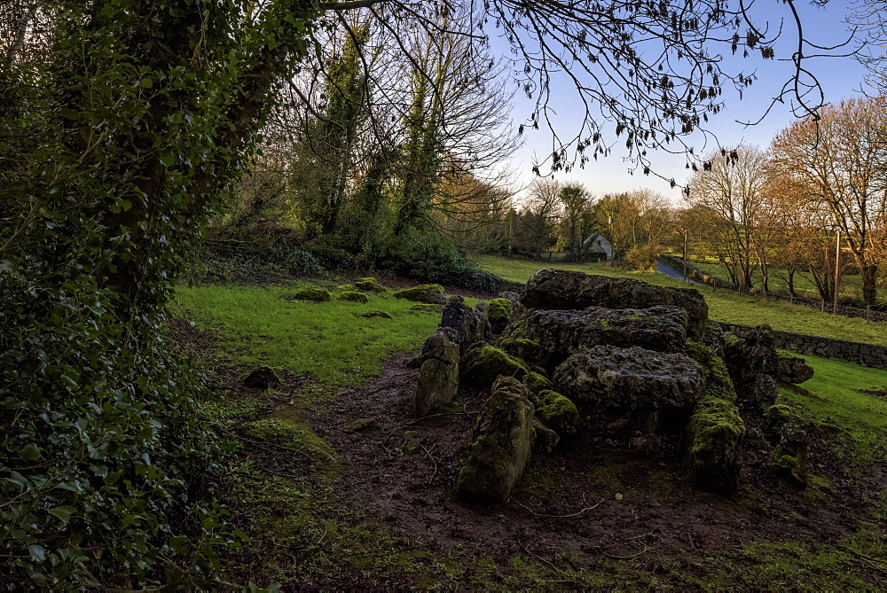 Lough Gur, Giant's Grave, County Limerick, Munster, Republic of Ireland, Europe