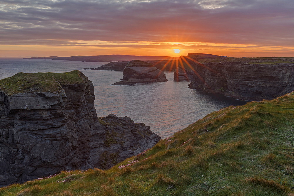 Sunrise, Kilkee Cliffs, County Clare, Munster, Republic of Ireland, Europe - 1240-202