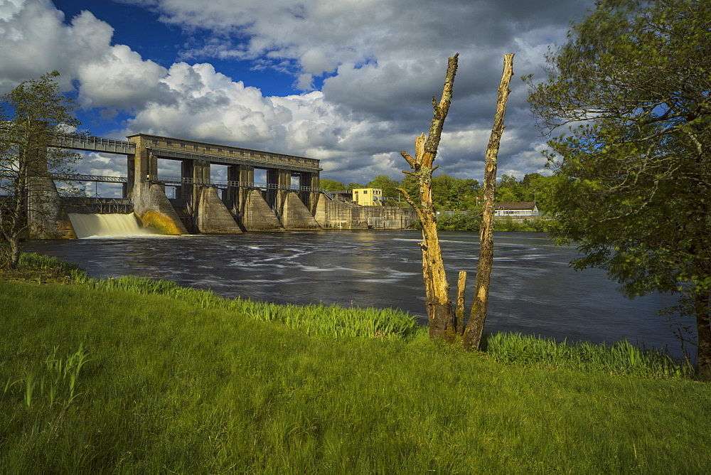 Parteen Weir, County Clare, Munster, Republic of Ireland, Europe