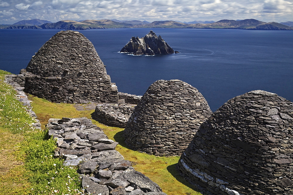Monastery on Skellig Michael, UNESCO World Heritage Site, County Kerry, Munster, Republic of Ireland, Europe