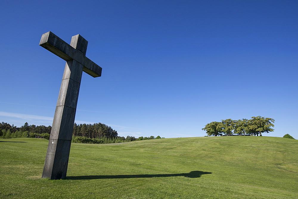 Cross at Skogskyrkogarden, UNESCO World Heritage Site, Stockholm, Sweden, Scandinavia, Europe - 1241-16