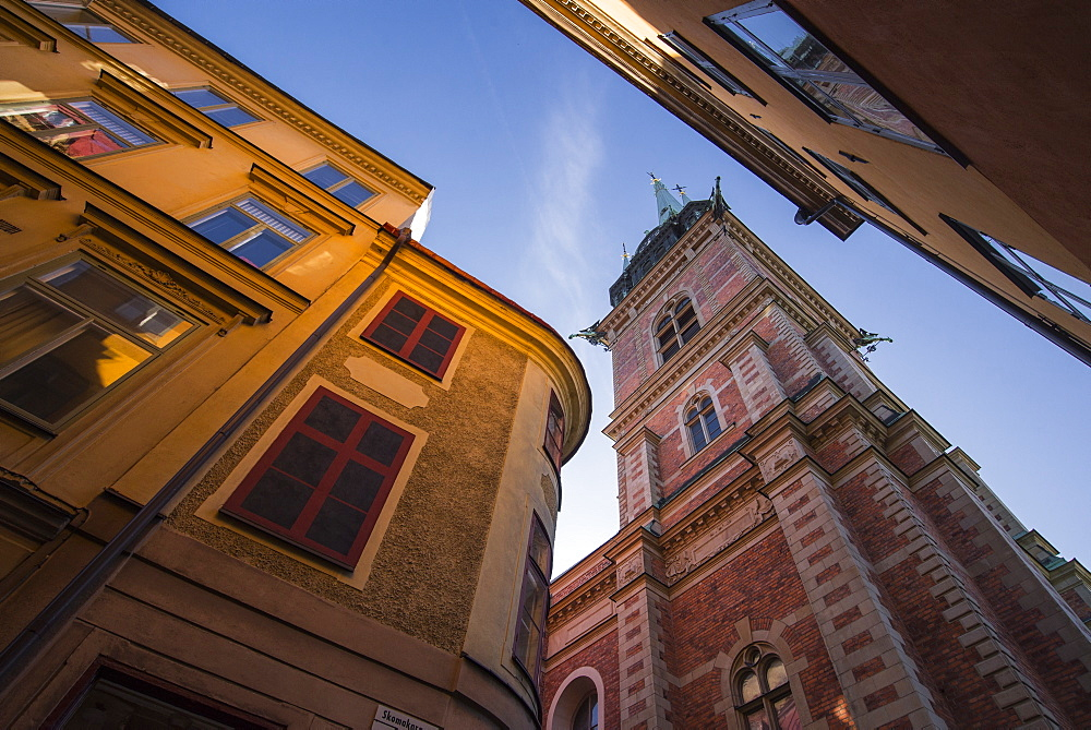 Historic buildings in Gamla Stan, Stockholm, Sweden, Scandinavia, Europe - 1241-17