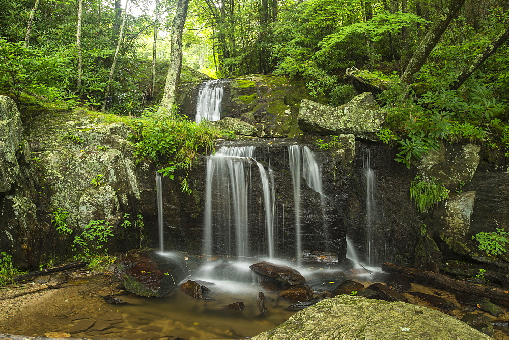 Waterfall, Blue Ridge Mountains, North Carolina, United States of America, North America - 1241-42