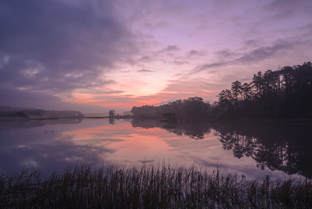Sunrise, Intracoastal waterway, Calabash, North Carolina, United States of America, North America - 1241-44