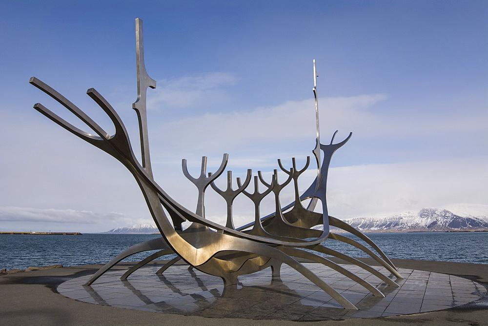 Sun Voyager Sculpture, Reykjavik, Iceland, Polar Regions