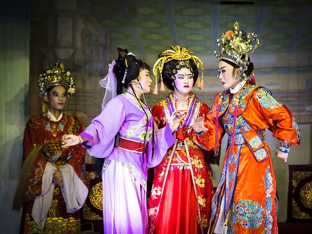Chinese opera performance during the Hungry Ghost Festival, Penang, Malaysia, Southeast Asia, Asia