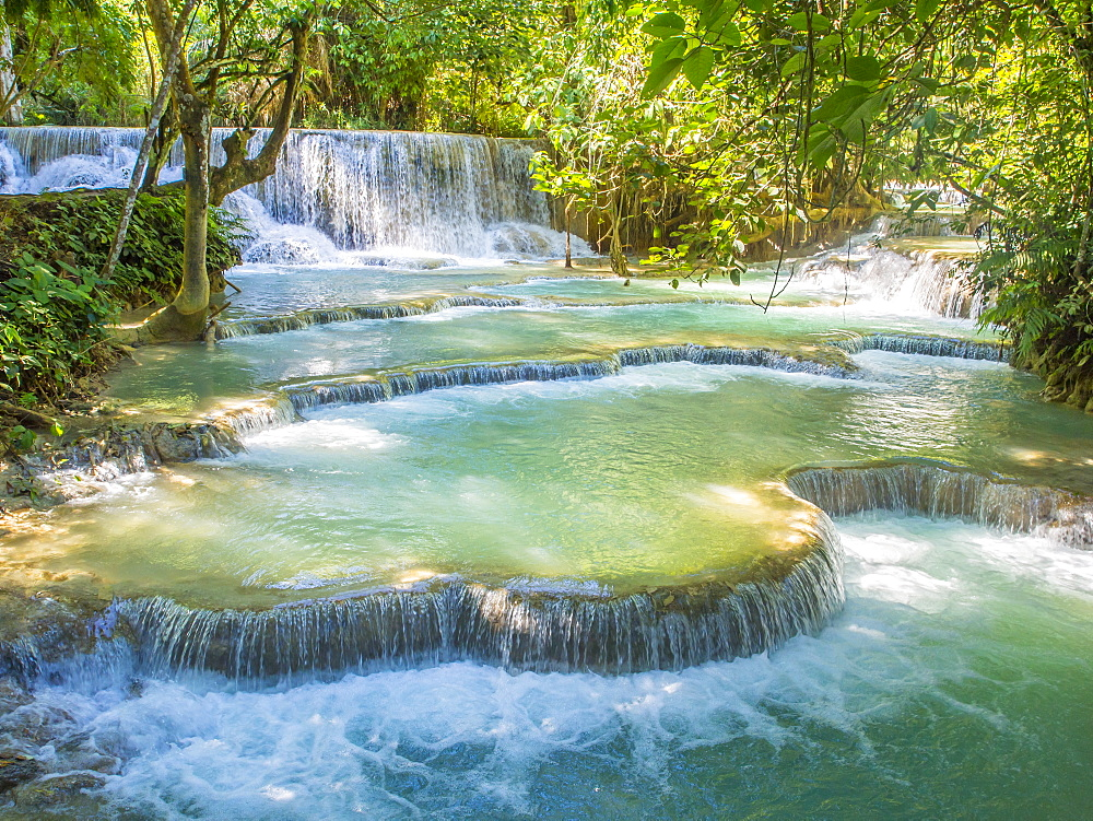 Keang Si waterfalls, near Luang Prabang, Laos, Indochina, Southeast Asia, Asia