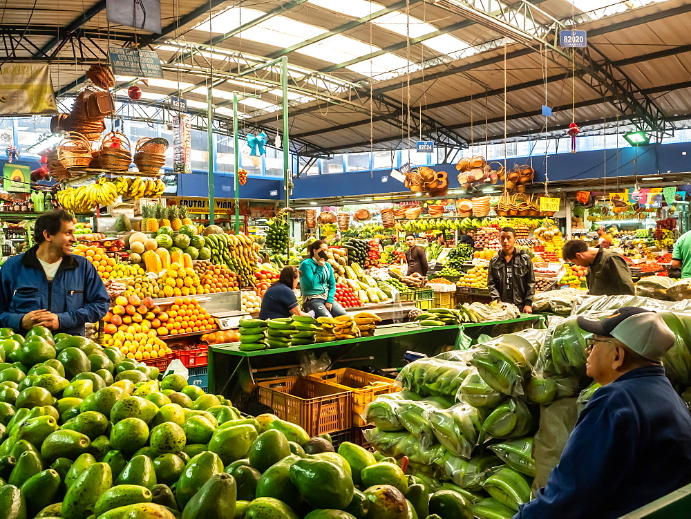 The produce section of Paloquemao market, Bogota, Colombia, South America - 1242-284