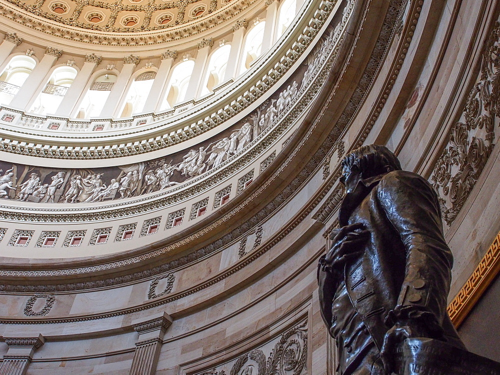 Rotunda of the U.S. Capitol Building, Washington, DC, United States of America, North America - 1242-383