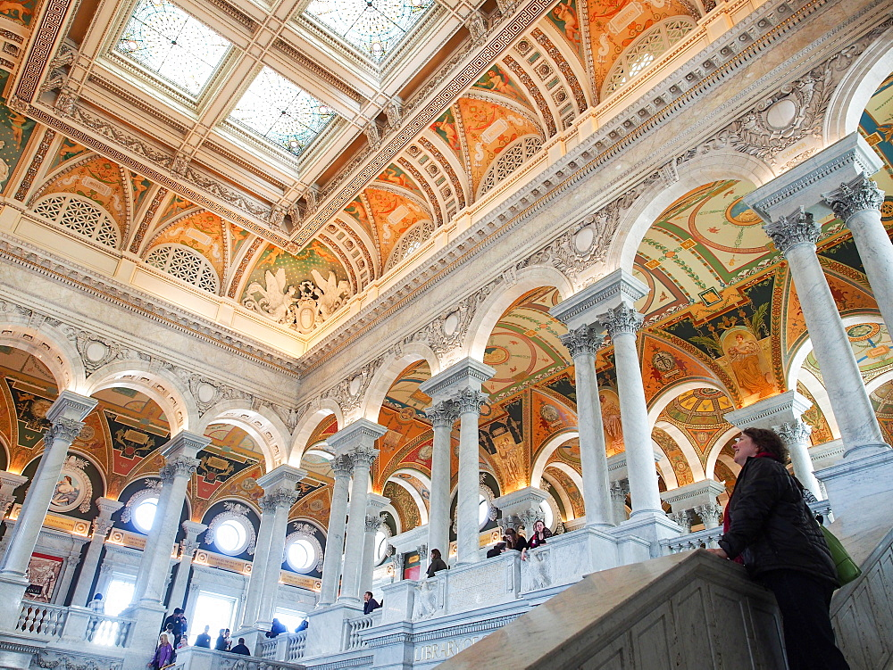 Great Hall of the Library of Congress, Washington, DC, United States of America, North America