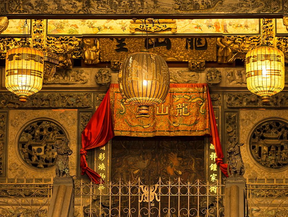 Khoo Kongsi clan temple, Penang, Malaysia, Southeast Asia, Asia