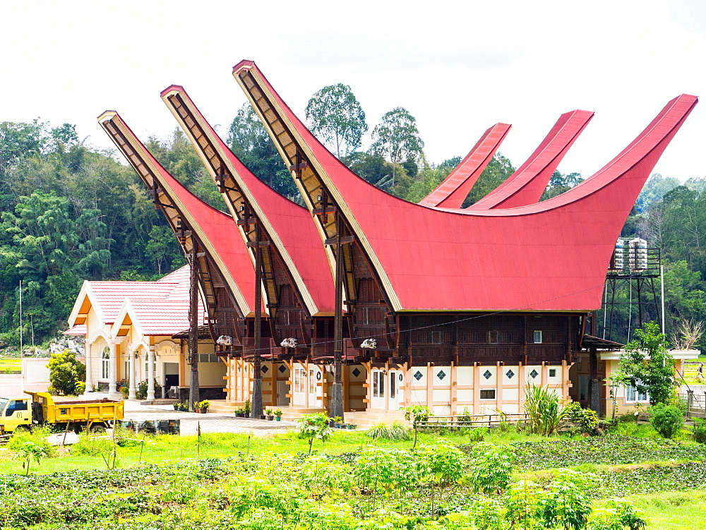 A set of brand new tongkanon, in the traditional shape. Tana Toraja, Sulawesi, Indonesia, Asia