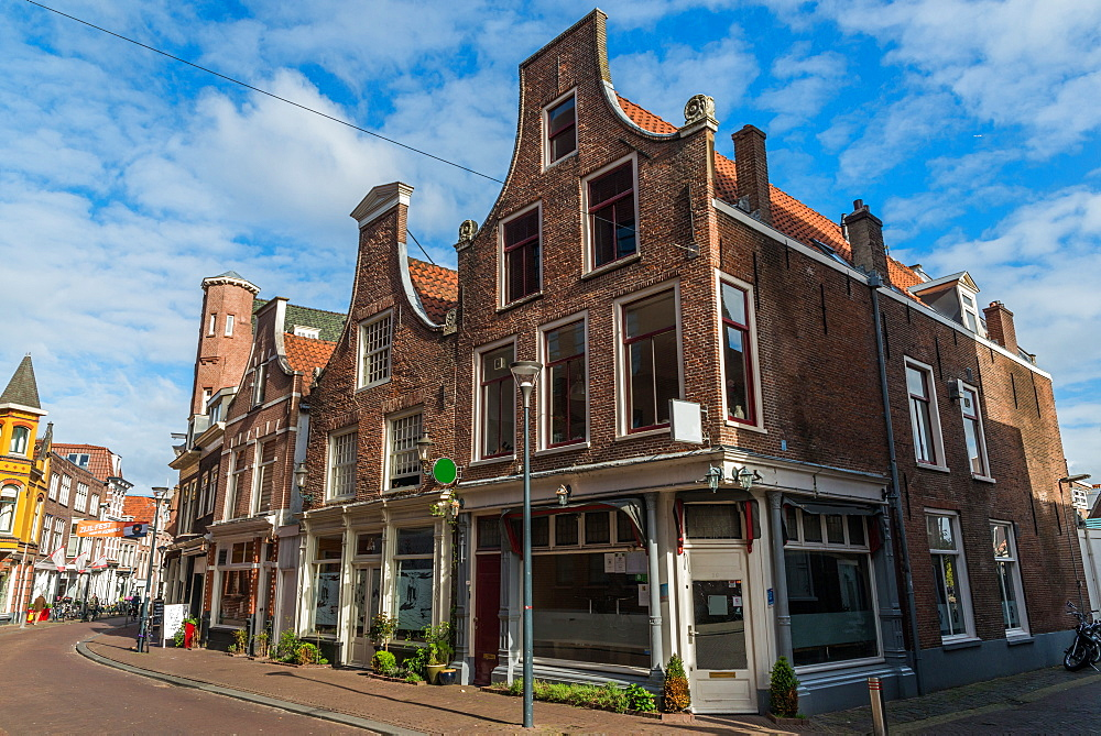 Typical Dutch houses in Haarlem, Netherlands, Europe