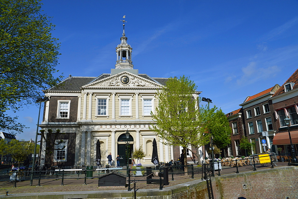Library, one of the oldest buildings in the city, Schiedam, Netherlands, Europe - 1243-106