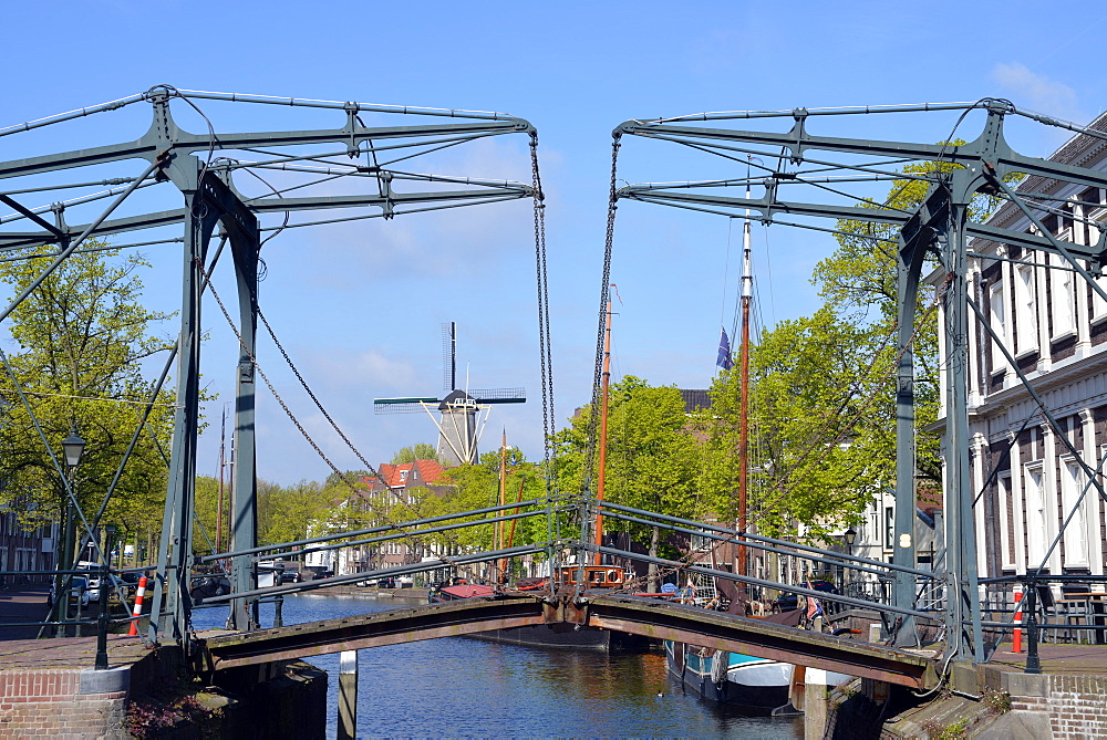 Canals and windmills at Schiedam, Netherlands, Europe - 1243-107
