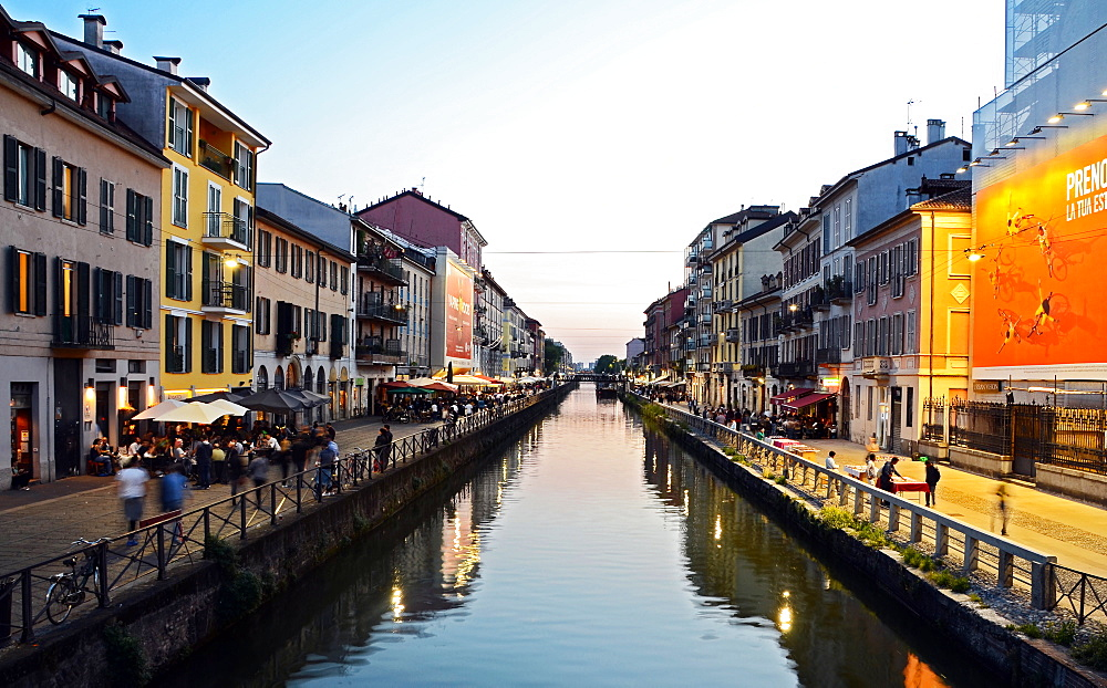 Naviglio Grande in Milan, Lombardy, Italy, Europe