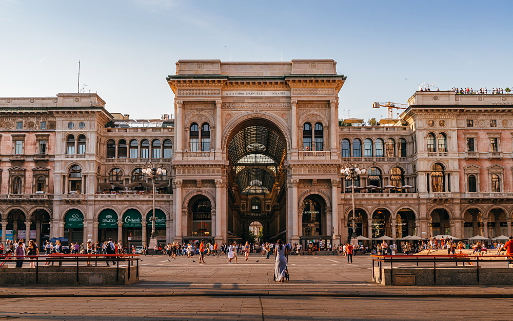 The Galleria Vittorio Emanuele II in Milan, Lombardy, Italy, Europe