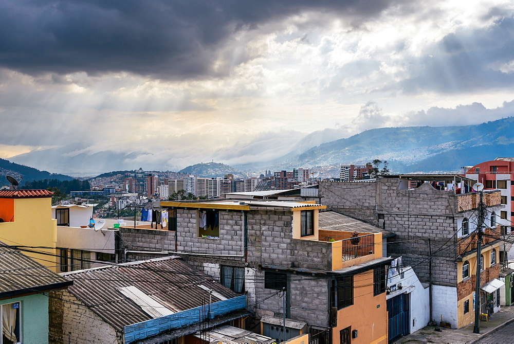 Cityscape of Quito, Ecuador, South America