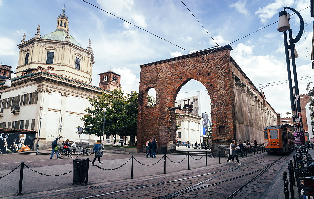The Basilica of San Lorenzo Maggiore is an important place of catholic worship located in Milan - 1243-27