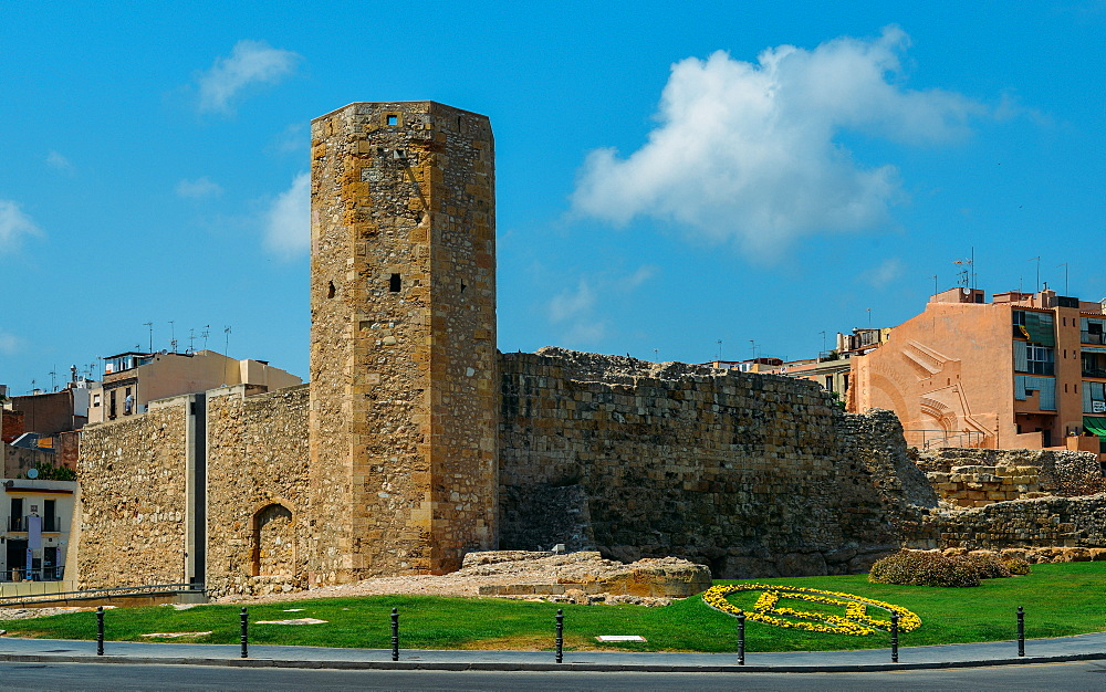 Open-air and underground ruins of a 1st century Roman circus (chariot-racing track) and Tower, UNESCO World Heritage Site, Tarragona, Catalonia, Spain, Europe - 1243-288