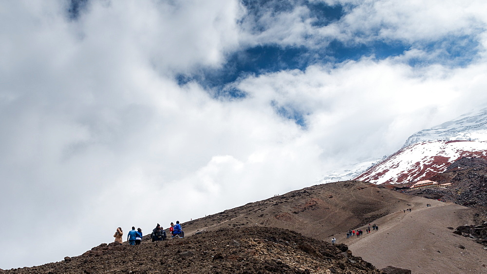 Hikers at Cotopaxi volcano in Ecuador - 1243-29