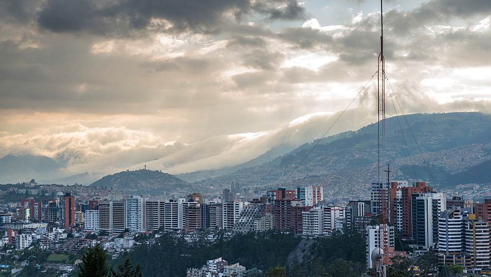 Cityscape, Quito, Ecuador, South America