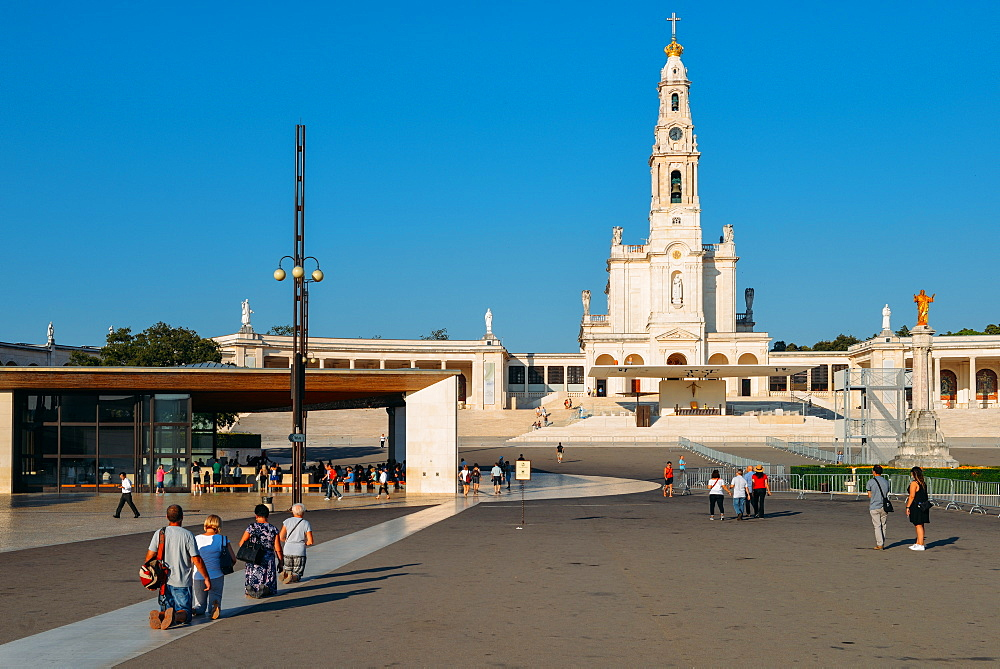 Religious pilgrims at the Sanctuary of Fatima (Basilica of Our Lady of Fatima), Portugal, Europe - 1243-335