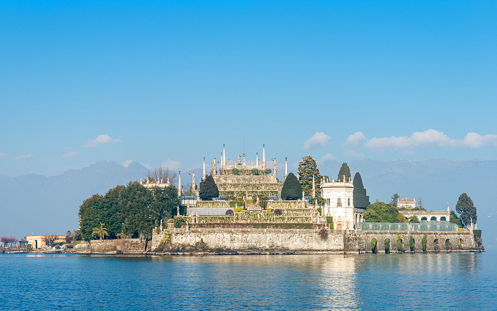 Isola Bella, one of the Borromeo islands in Lake Maggiore, Italy at winter time - 1243-45
