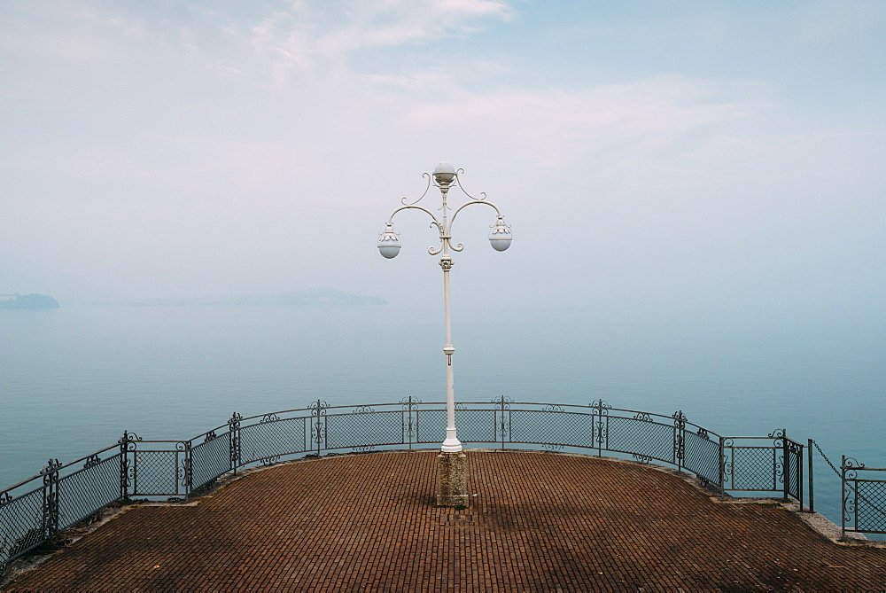 A symmetrical spot with a lamp overlooking Lake Maggiore, Italy - 1243-49